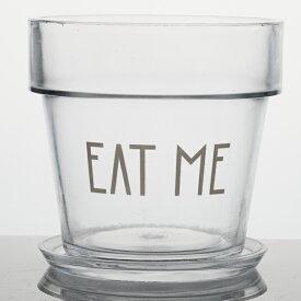 EAT ME 5号 受け皿付き  ≪植木鉢/ガーデン雑貨/ガラスポット/おしゃれ/かわいい/インテリア≫