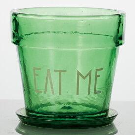 【在庫限りの大特価】EAT ME 5号 受け皿付き  ≪植木鉢/ガーデン雑貨/ガラスポット/おしゃれ/かわいい/インテリア/セール対象F≫