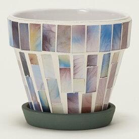 モザイクポット 9 ≪植木鉢/ガーデン雑貨/おしゃれ/かわいい/インドア/ガラス/インテリア≫
