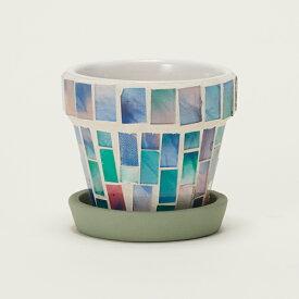 モザイクポット 6 ≪植木鉢/ガーデン雑貨/おしゃれ/かわいい/インドア/ガラス/インテリア≫