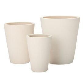 サフィ E24W 3点セット  ≪植木鉢/陶器/白系テラコッタ/素焼き鉢/セール対象1≫