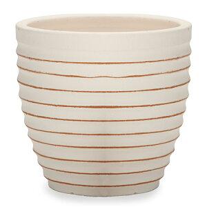サフィ E28W Lサイズ ≪植木鉢/陶器/白系テラコッタ/素焼き鉢≫