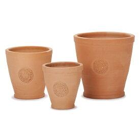 【植木鉢】【テラコッタ】テラコッタ E39 3点セット【植木鉢 おしゃれな植木鉢 鉢 テラコッタ 素焼き鉢 陶器鉢】