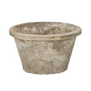 ホワイトモスポット 100W 6号  ≪植木鉢/おしゃれ/ラフ/陶器/テラコッタ/素焼き鉢≫