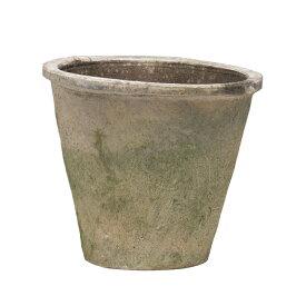 ホワイトモスポット 400W 7号  ≪植木鉢/おしゃれ/ラフ/陶器/テラコッタ/素焼き鉢≫