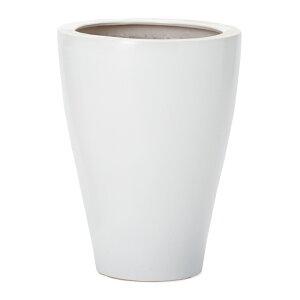 ルッカ PR5 白マット Lサイズ   ≪植木鉢/陶器鉢/白黒磁器系≫