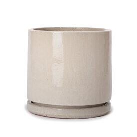 ヴィトロ エンデカ 9号 受け皿付き  ≪おしゃれな植木鉢/陶器鉢/高温焼成≫
