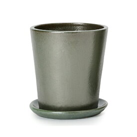 ヴィトロ ドーセ 9号 受け皿付き  ≪おしゃれな植木鉢/陶器鉢/高温焼成≫