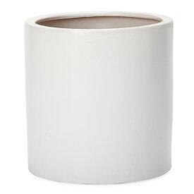 ルッカ 13 白マット Lサイズ   ≪植木鉢/陶器鉢/白黒磁器系≫