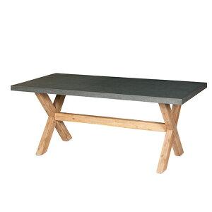 アッシュ クロスレッグ テーブル ≪ガーデンテーブル/ガーデンファニチャー/机/おしゃれ/家具/屋外/庭≫