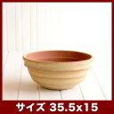 ウィトン 104 赤土(白土焼付) Lサイズ  ≪植木鉢/陶器/テラコッタ・素焼き鉢より堅牢/セール対象1≫