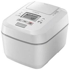 HITACHI 日立 RZ-V100DM-W 5.5合 圧力&スチーム ふっくら御膳 IHジャー炊飯器 パールホワイト