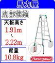 【代引・日時指定不可】ハセガワ(長谷川工業) はしご兼用脚立 RYZ1.0-21「脚部伸縮式」【R1.9.30】●地域によって、ま…