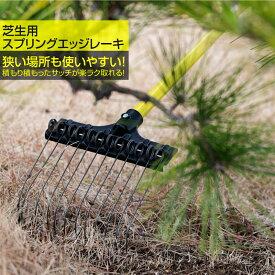 芝生用スプリングエッジレーキ 熊手 爪幅22cm 爪数12本 狭い場所 芝生 サッチ 芝かす【あす楽対応】