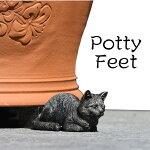 英国ポットフィート猫(植木鉢の足)ねこ3個入