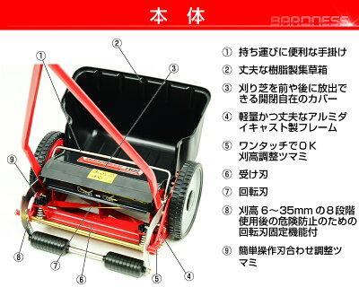 バロネス手動式芝刈り機LM4Dの特長本体