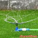 トリプルアームスプリンクラー コネクター付き タカギ 360度散水 散水範囲2〜11m 芝生 芝管理 水やり ワンタッチ 円…