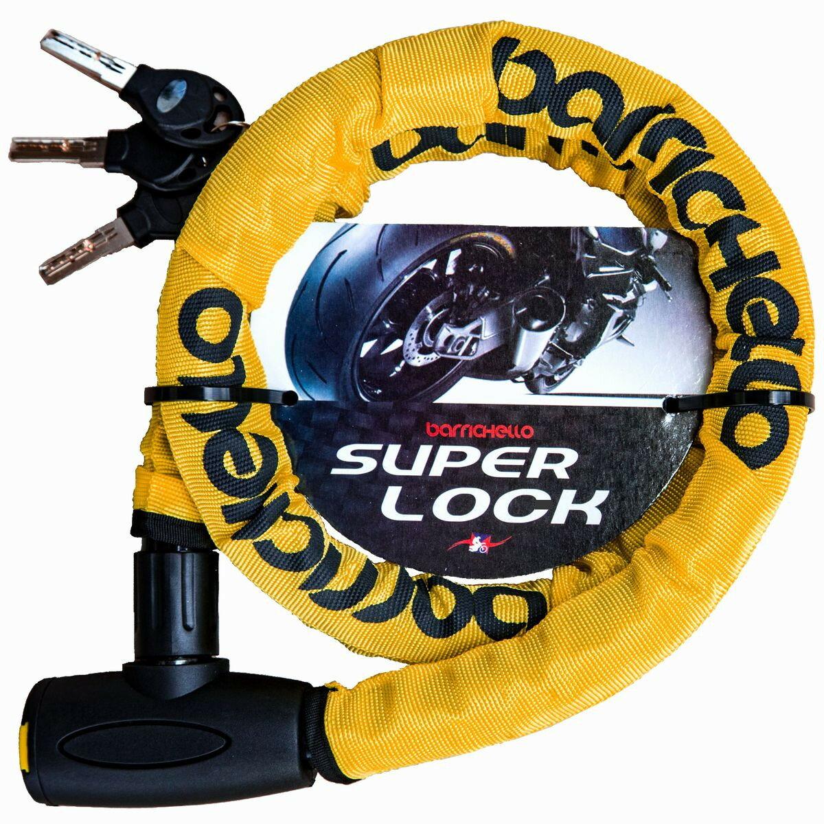 Barrichello(バリチェロ)スーパーロック φ(直径)22mm×1200mm ワイヤーロック 盗難防止 軽量タイプ 保証付き