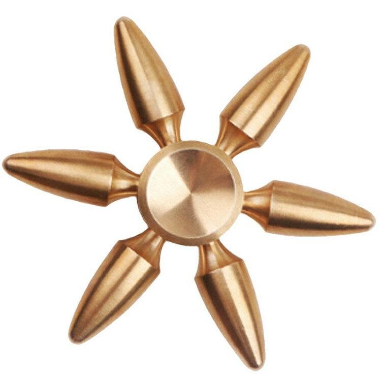 ハンドスピナー 真鍮 結晶型 指スピナー Hand spinner 脱着可能 スピン 指遊び 6枚羽 ストレス解消 ウィジェット【送料無料】