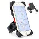 バイク自転車用スマートフォンホルダーダイヤル式バーマウント多機種対応!!厚さ調整パッド付属