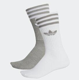 adidas(アディダス) レディース 靴下 オリジナルス ソリッド 2Pクルーソックス SOLID CREW SOCKS 2P DW3934 / DW3936 / FUY34 2019春夏/新作 日本正規代理店商品