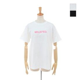 【SALE セール ★ 30%OFF】 MILKFED(ミルクフェド) レディース 半袖 グロー ステンシルロゴ Tシャツ SS TEE GLOW STENCIL 03192130