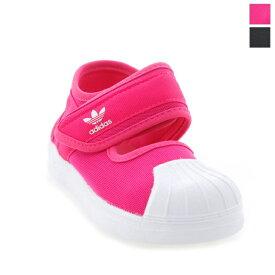 [2021ss新作][ポイント10倍] adidas(アディダス)キッズ ベビー シューズ スニーカー 子供靴 運動靴 ベロクロテープ オリジナルス SS 360 サンダル SUPERSTAR 360 SANDALS EG5712 / EG5711