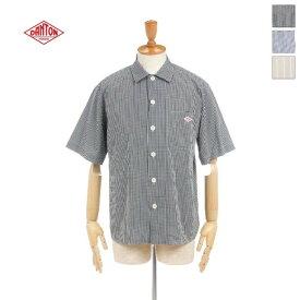 【20%OFF】DANTON(ダントン) メンズ コットンポプリン チェック ストライプ 半袖ワークシャツ JD-3609MTP  日本正規代理店商品