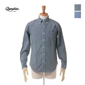 【ポイント10倍】 Gymphlex(ジムフレックス)メンズ ギンガムチェック コットンブロード 長袖 ボタンダウンシャツ J-0643TSS
