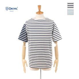 【20%OFF】 ORCIVAL(オーチバル/オーシバル) メンズ ボーダー クレイジーパターン ボートネック 半袖Tシャツ B245 2020春夏/新作