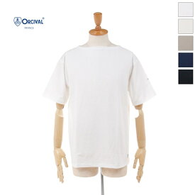 【20%OFF】 ORCIVAL(オーチバル/オーシバル) メンズ 無地 ソリッド コットンモヨン ボートネック 半袖Tシャツ B245 2020春夏/新作