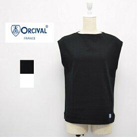 レディース/ORCIVAL  オーシバル オーチバル/ノースリーブ ボートネック 無地 カットソー Tシャツ /RC-9161