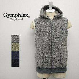 メンズ/Gymphlex ジムフレックス/ボア フリース ベスト パーカー フード/J-0855PL