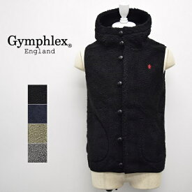 メンズ/Gymphlex ジムフレックス/ボア フリース ベスト パーカー フード/J-1069PL