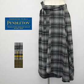 レディース/PENDLETON ペンドルトン/チェック ロング 巻きスカート/9475-7117
