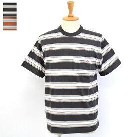 メンズ/DANTON ダントン/ポケT 半袖 クルーネック Tシャツ マルチボーダー/JD-9041