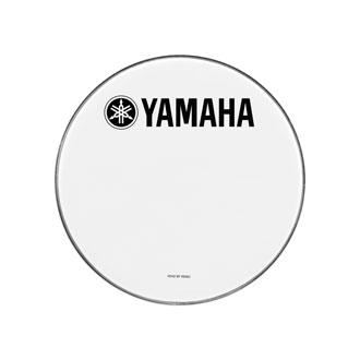 【16インチ】 ヤマハレモ マーチングバスドラムヘッド UTパワーストローク3 スムースホワイト UT-MBP3SW16