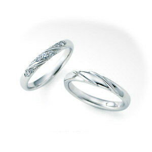 【ペアリング2本1組ダイヤあり*ダイヤなし】 NINA RICCI ニナリッチ ウェディングリング TORSADE 6RB067/6RA905 P 結婚指輪(マリッジリング) 【送料無料】
