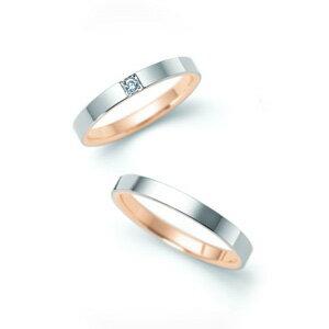 【ペアリング2本1組ダイヤあり*ダイヤなし】 NINA RICCI ニナリッチ ウェディングリング ETERNITE 6R1F07/6R1F08 P 結婚指輪(マリッジリング) 【送料無料】