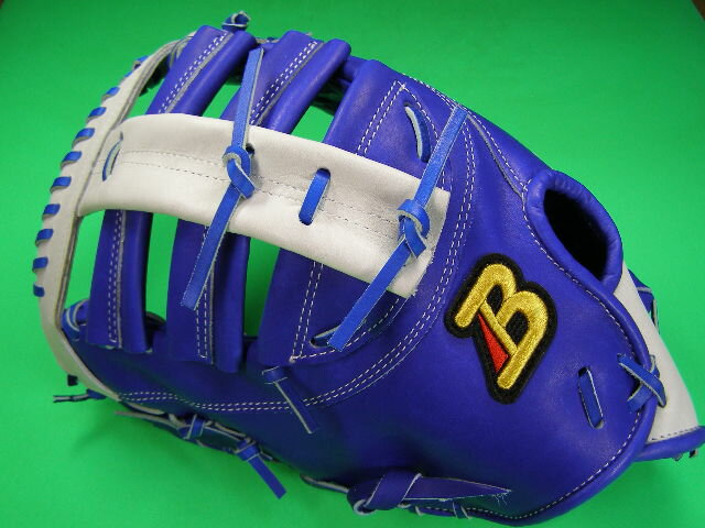 型付け無料 ベルガード BELGARD 左投げ用 アメリカンスタイル ファーストミット ロイヤルブルー×ホワイト 野球・ソフト兼用
