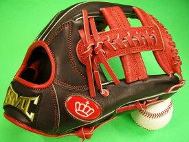 型付け無料 海外メーカー BMC ビーエムシー 硬式野球用 内野用 レッド×ブラック クロスウェブ Baseball Members Club