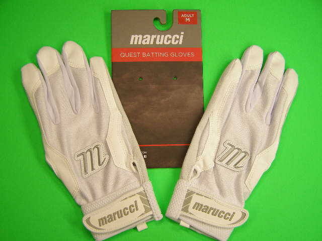 マルチ Marucci marucci QUEST Series Batting Gloves ホワイト×ホワイト