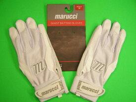 マルチ Marucci marucci QUEST Series Batting Gloves ホワイト×ホワイト