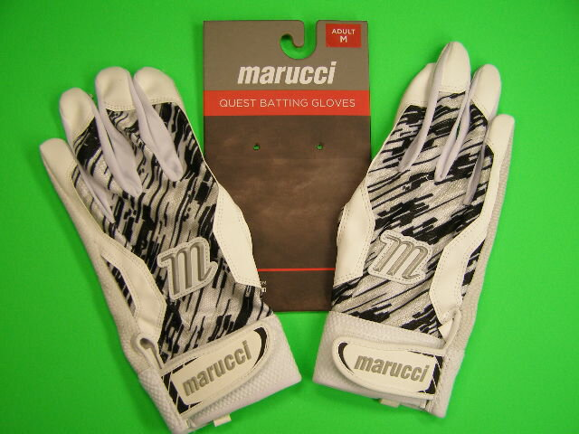 マルチ Marucci marucci QUEST Series Batting Gloves ホワイト×ブラック