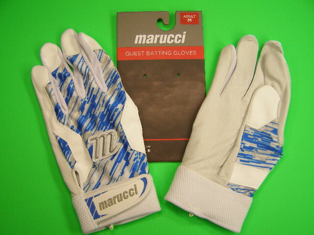 マルチ Marucci marucci QUEST Series Batting Gloves ホワイト×ブルー