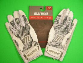 マルチ Marucci marucci QUEST Series Batting Gloves ホワイト×グレー