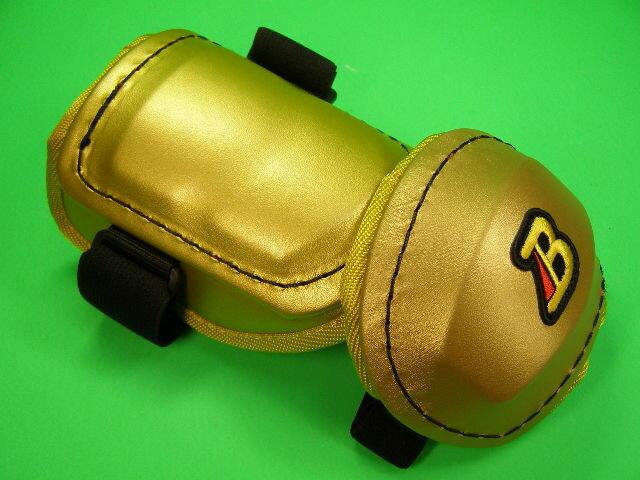 ベルガード BELGARD プロ仕様 合皮巻きタイプ アームガード ゴールド AL811 エルボーガード ひじ