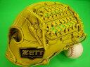 型付け無料 ゼット ZETT 海外モデル 硬式用 オールラウンド用 イエロー×ブラック糸 高校野球対応カラー GOLD LINE QO…