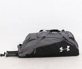 送料無料 UNDER ARMOUR アンダーアーマー ホイールバッグ グレー×ブラック Under Armour UASB-LDRB2 Line Drive Roller Bag II UASB-LDRB2