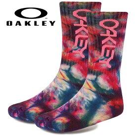 あす楽 OAKLEY オークリー ソックス 靴下 カジュアル Oakley Tie Dye Socks 1Pack 93345 oak19fw